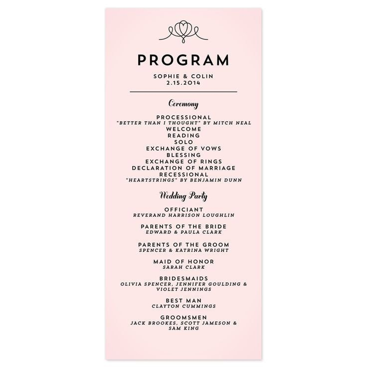 Simple Wedding Program Template Simple Wedding Programs Google Search