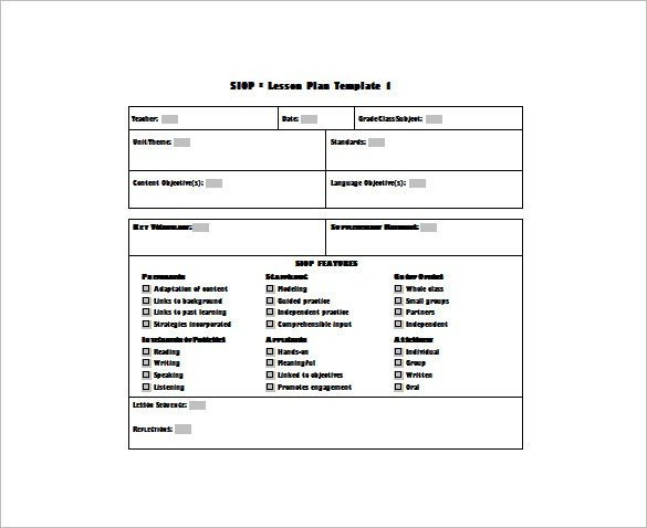 Siop Model Lesson Plan Template Uft Lesson Plan Template – Uft Unit Plan Template Physical
