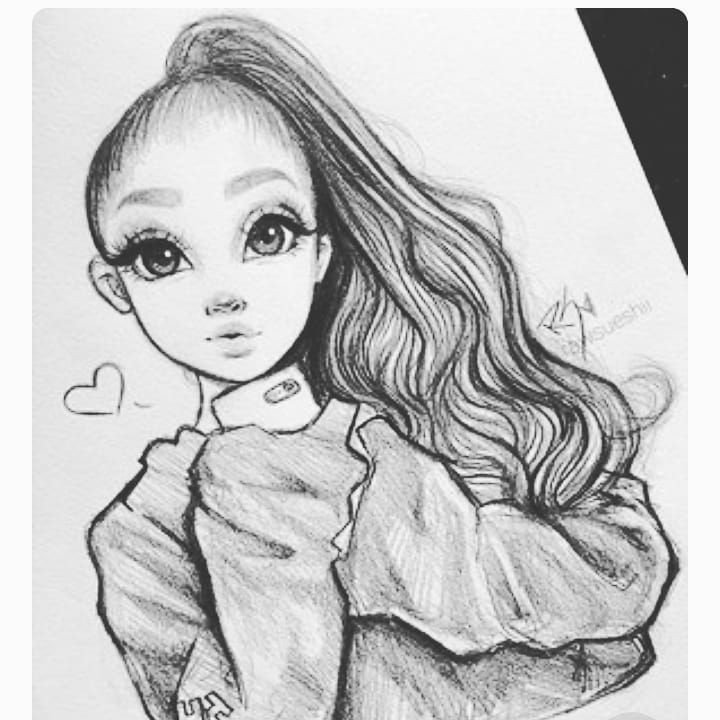 Sketch Of A Girl Art is the Highest form Of Hope Artista Gallery