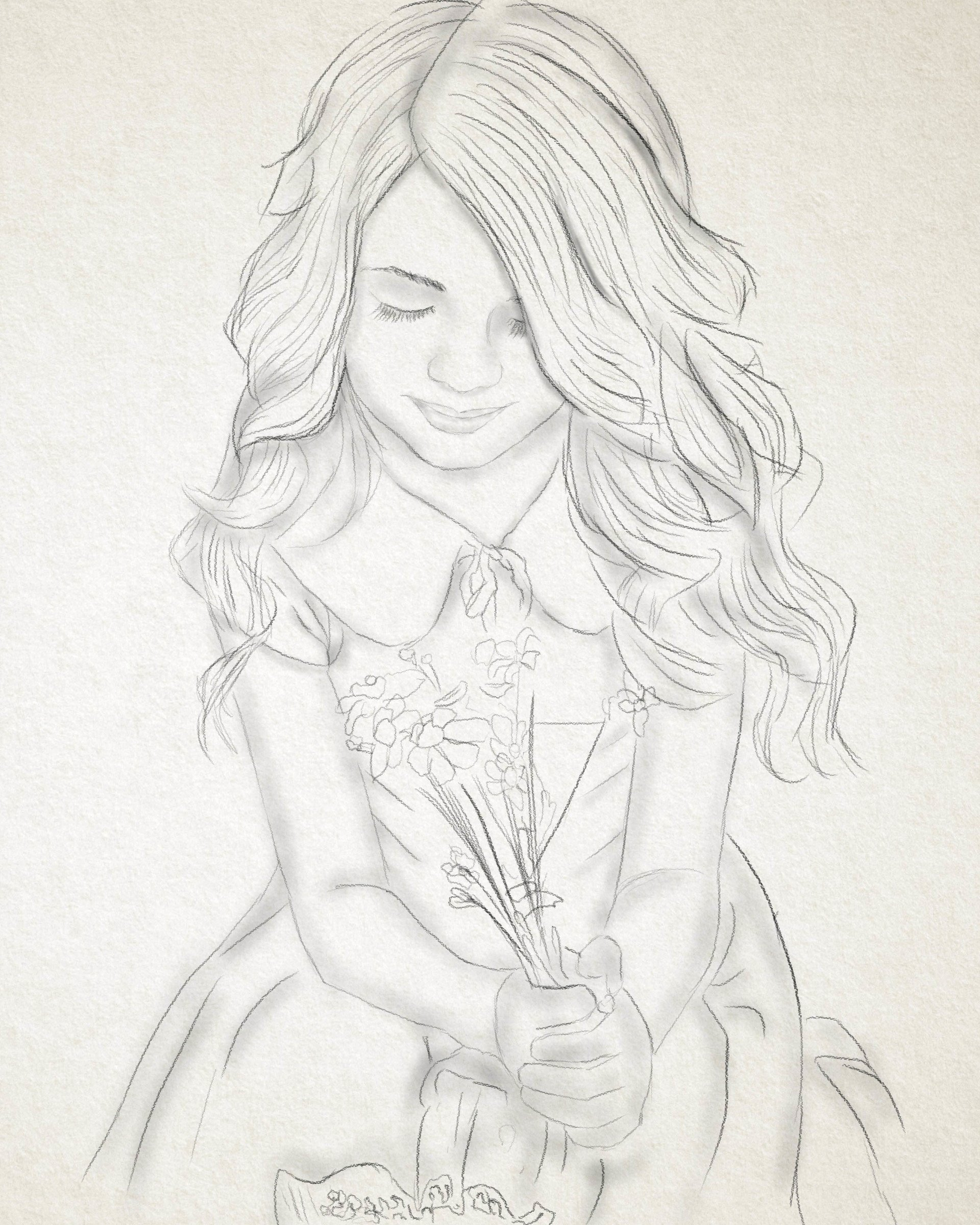 Sketch Of A Girl Artstation Little Girl Sketch Anurag Dhruw
