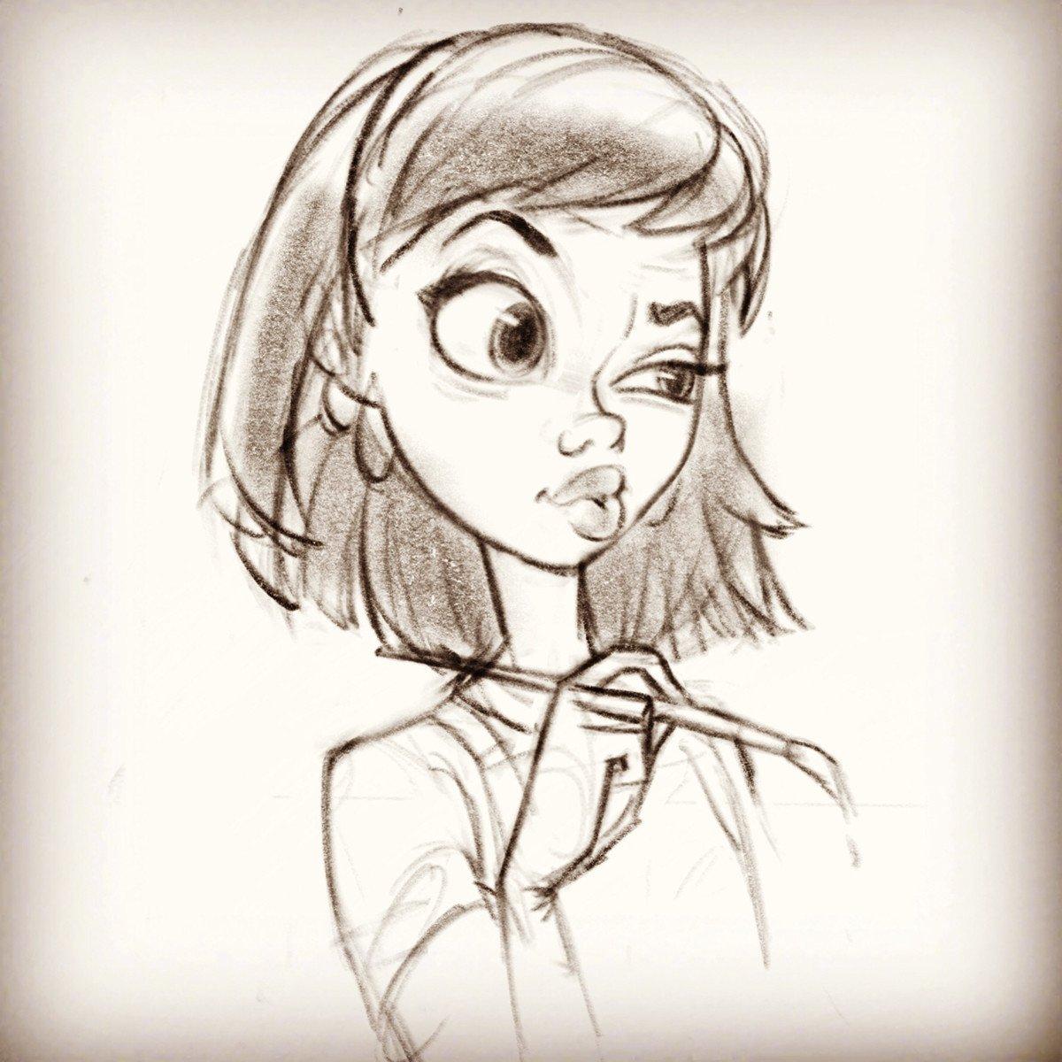 Sketch Of A Girl Artstation Random Girl Sketches Warner Mcgee