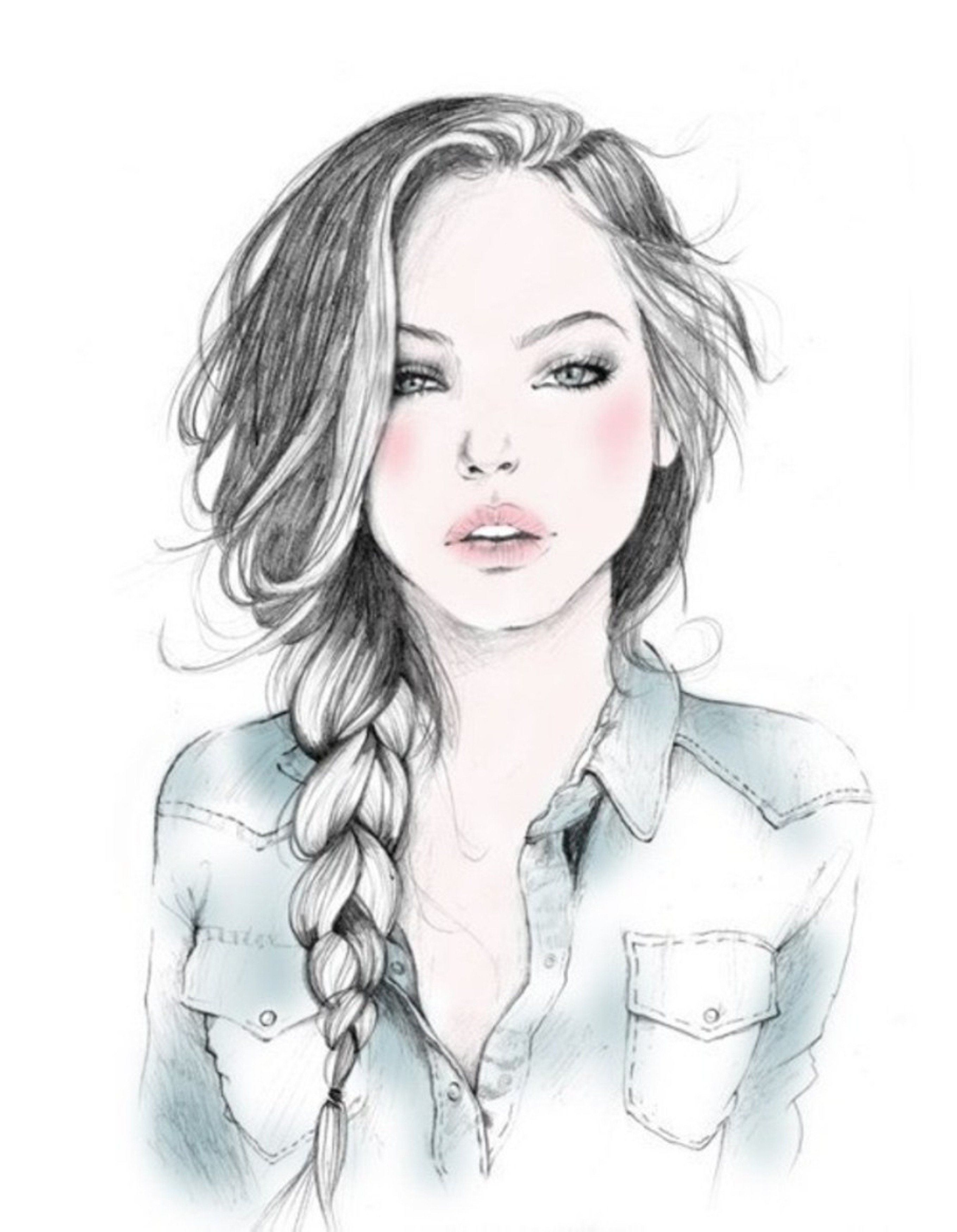 Sketch Of A Girl Beautiful Drawings for Beginners Hd S Gallery