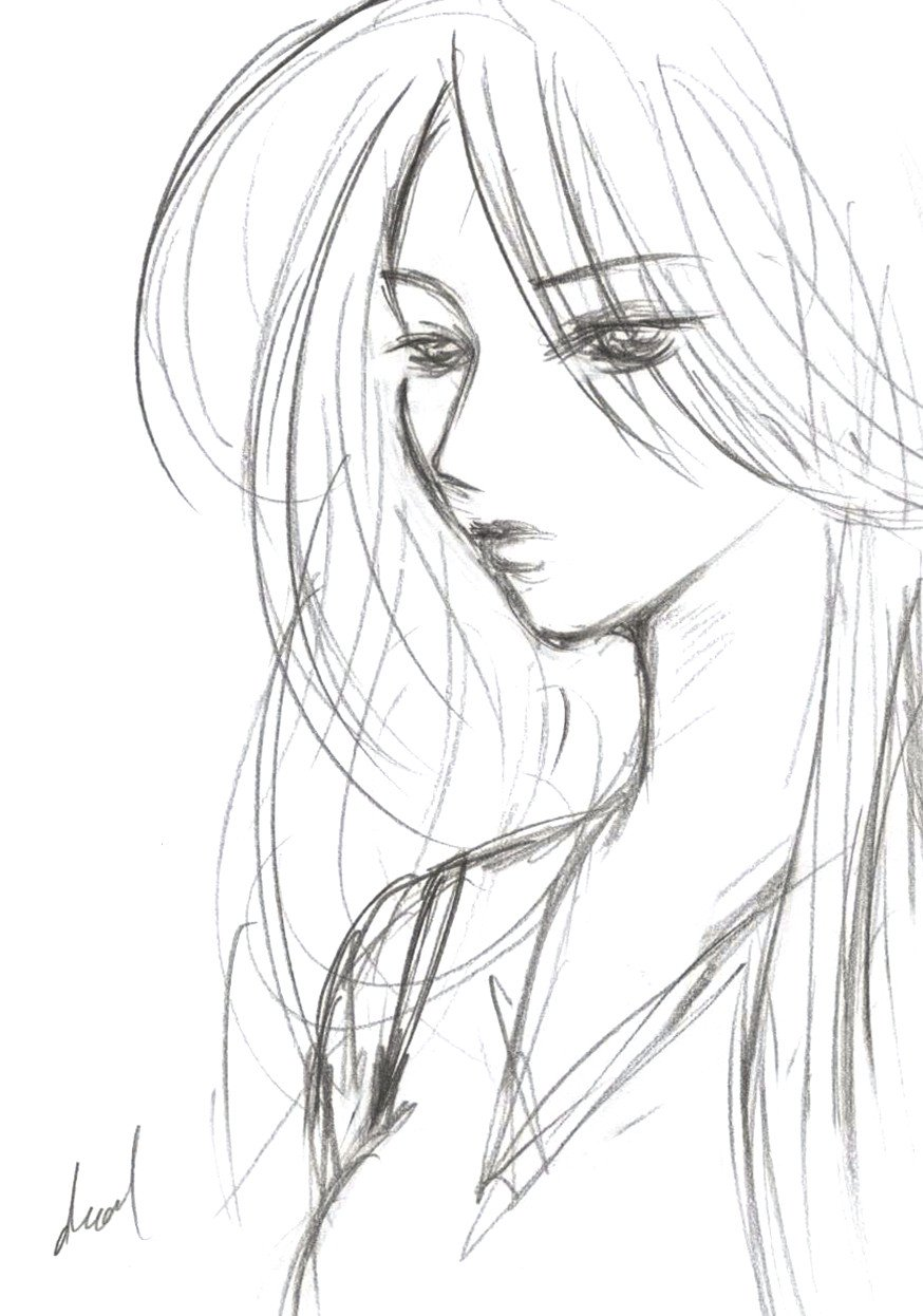 Sketch Of A Girl Divadazzle