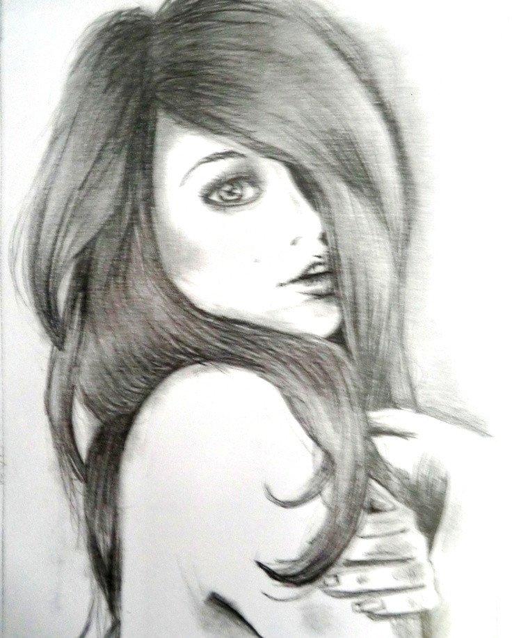 Sketch Of A Girl Gallery Girls Sketch Drawings Art Gallery