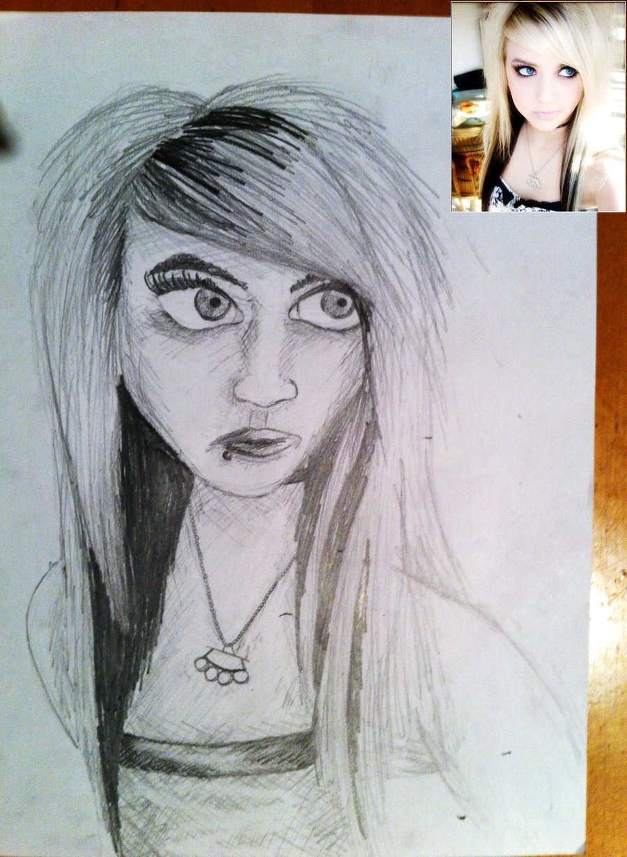 Sketch Of A Girl Girl Simple Pencil Sketch Drawings Art Gallery