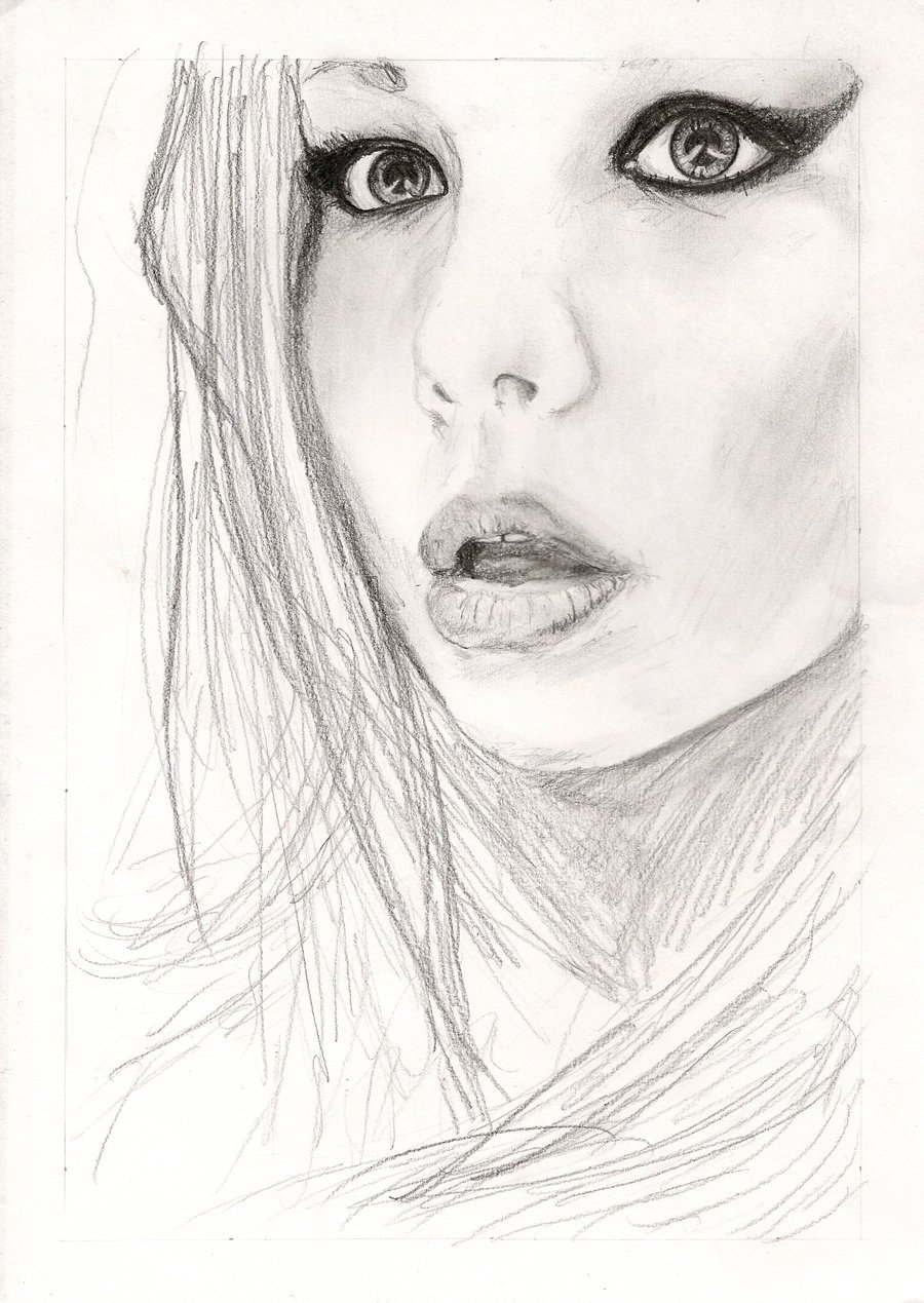 Sketch Of A Girl Girl Sketch by Gorylape On Deviantart