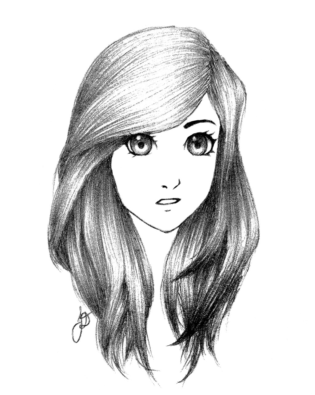 Sketch Of A Girl Girl Sketch by Iamtoolazytomake E On Deviantart
