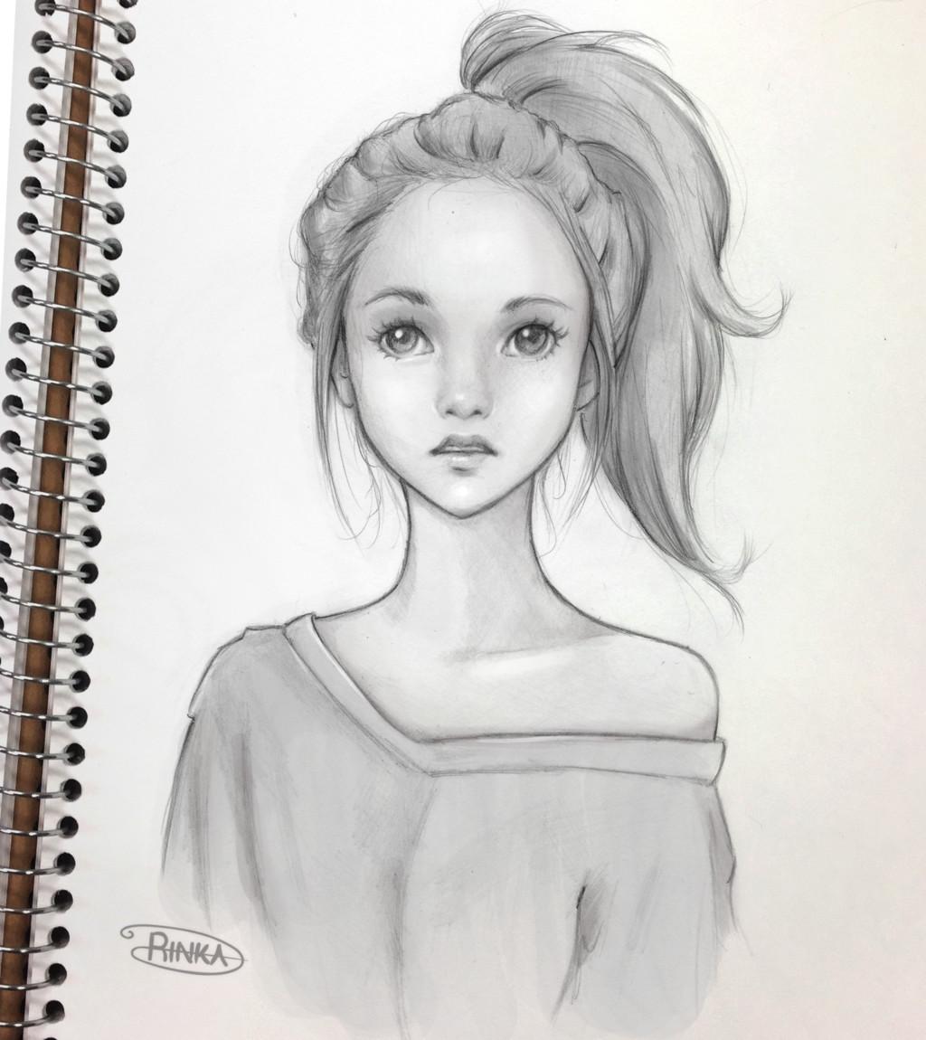 Sketch Of A Girl Girl Sketch by Ohayorinka On Deviantart