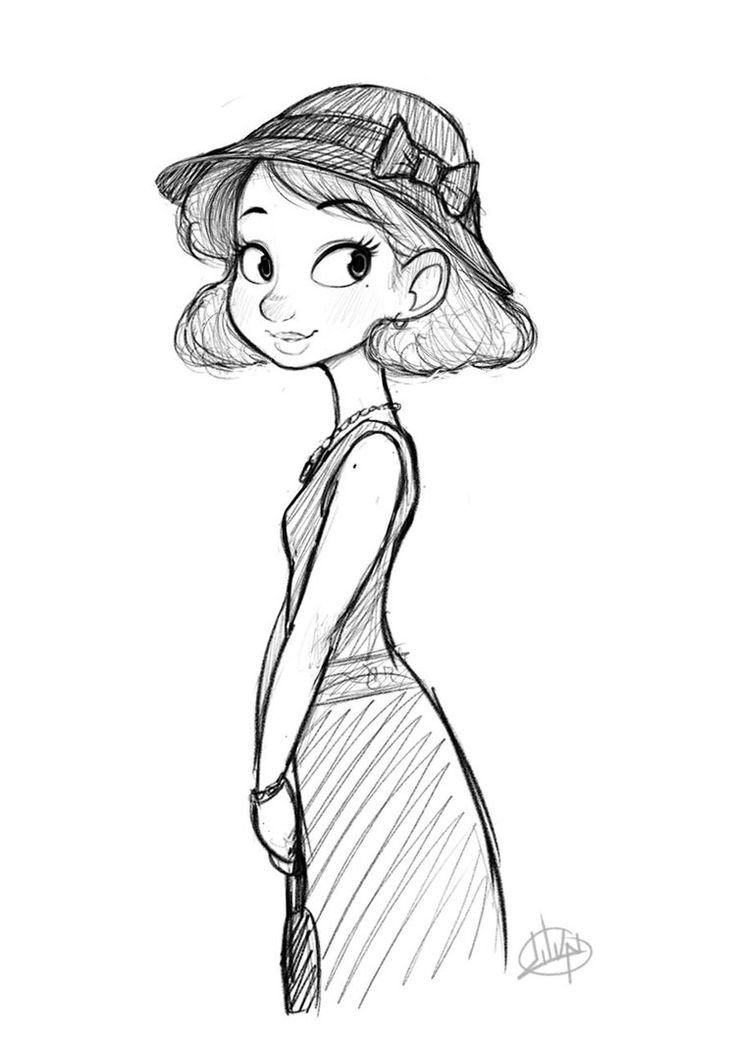 Sketch Of A Girl Monday Dress by Luigil On Deviantart