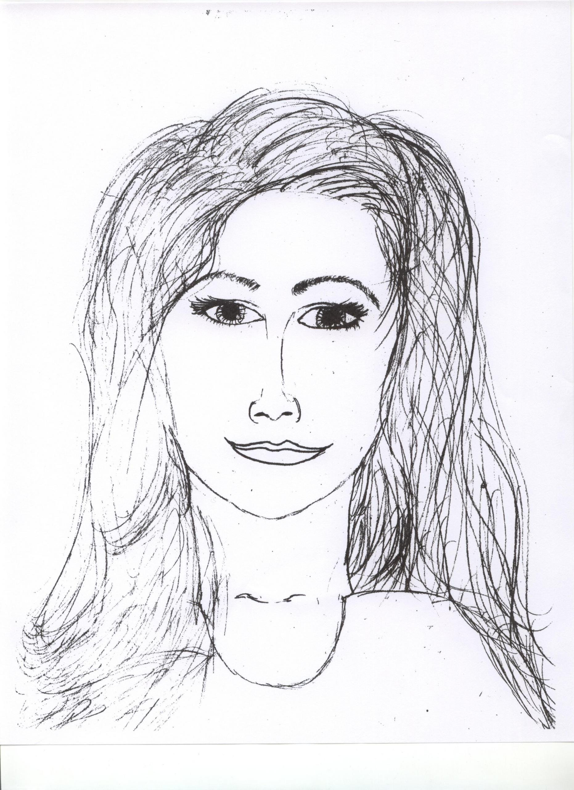 Sketch Of A Girl My Drawing Of A Woman Vanillamoon08 Fanpop