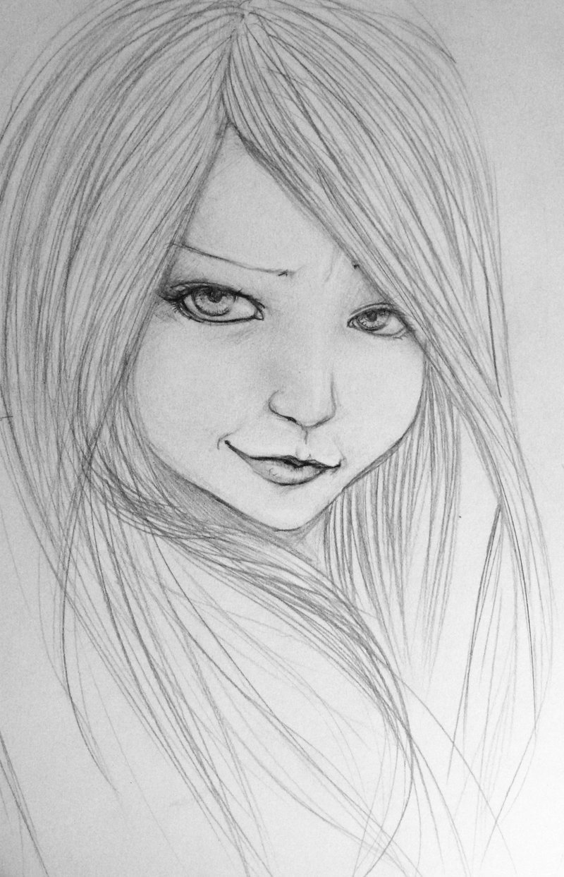 Sketch Of A Girl Pencil Drawing Of A Girl I Used A Photo Reference but I
