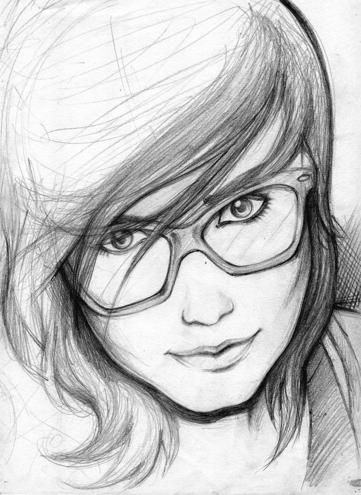 Sketch Of A Girl Pencil Sketches Of People
