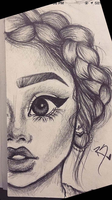 Sketch Of A Girl Pin by Klaudia Gawryłow On Rysunki Ołówkiem