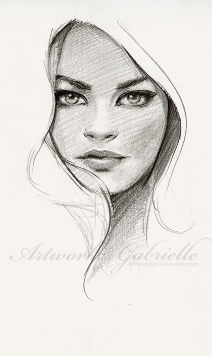 Sketch Of Girl Face Artwork by Gabrielle 25 Min Sketch From Ref Just