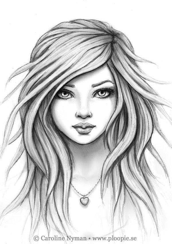 Sketch Of Girl Face as Me Gusta Sin Vergüenza Y Con todo El Look