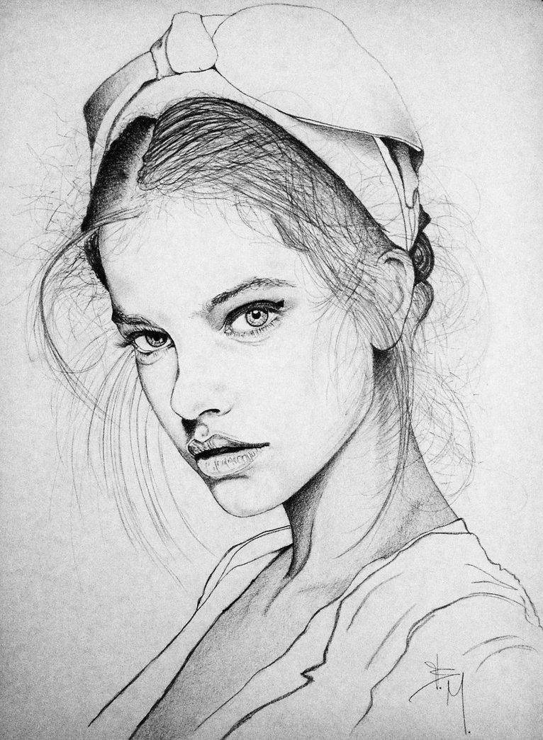 Sketch Of Girl Face Barbara Palvin by Eurekainhorror On Deviantart