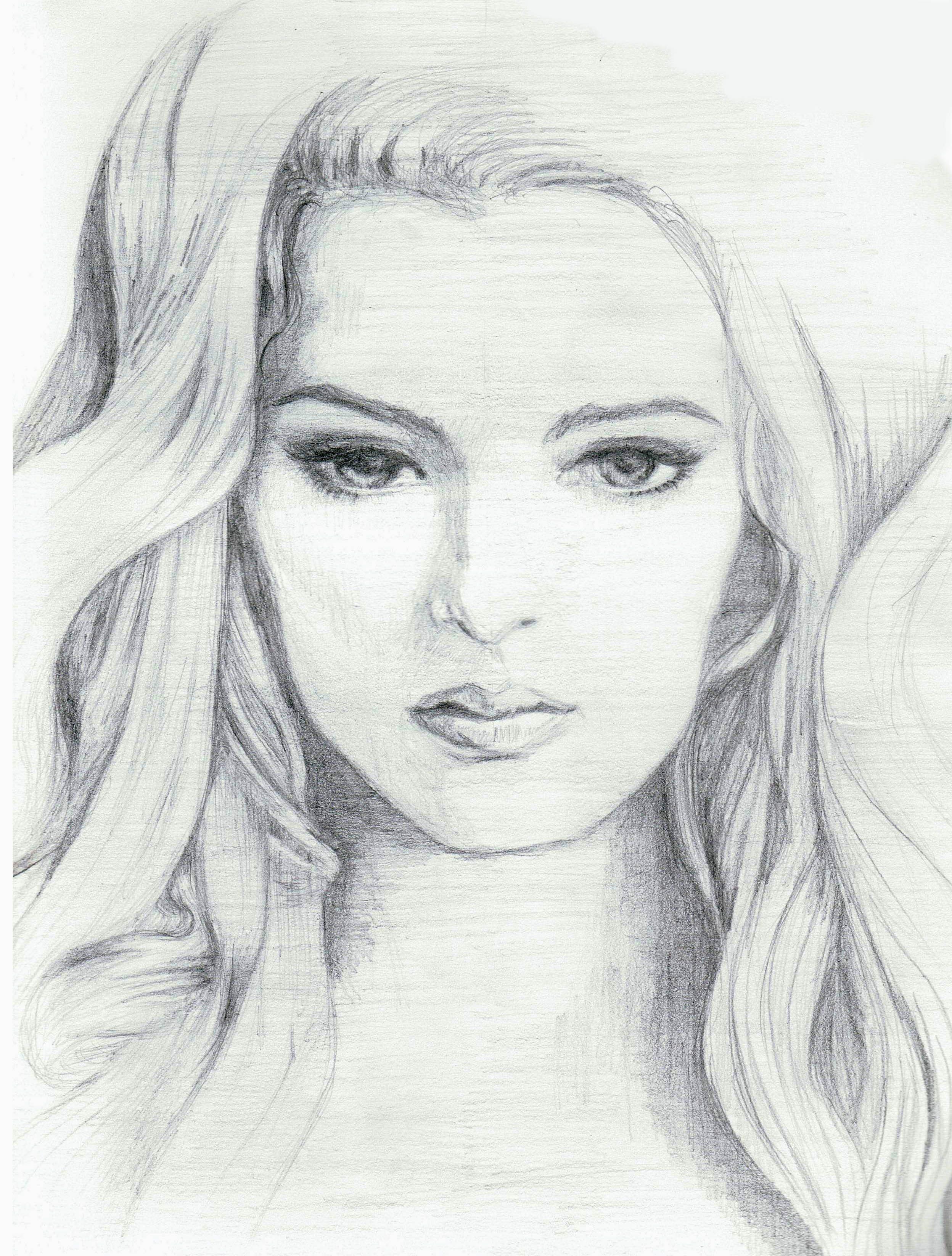Sketch Of Girl Face Doodles & Sketches Emeraldsantos
