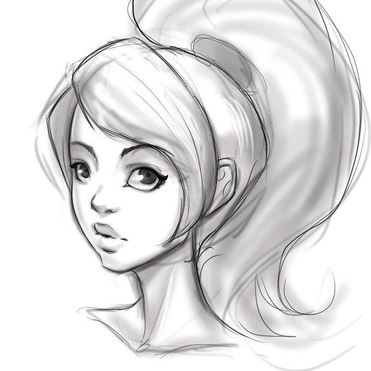 Sketch Of Girl Face Girl Face Sketch by Zapfrogart On Deviantart