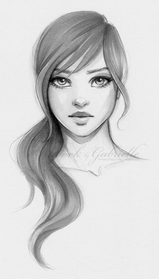 Sketch Of Girl Face Image Result for Easy Portrait Drawing