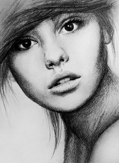 Sketch Of Girl Face Pencil Sketch Of Women