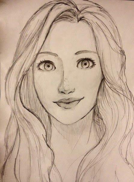 """Sketch Of Girl Face Résultat De Recherche D Images Pour """"easy Portrait Drawing"""