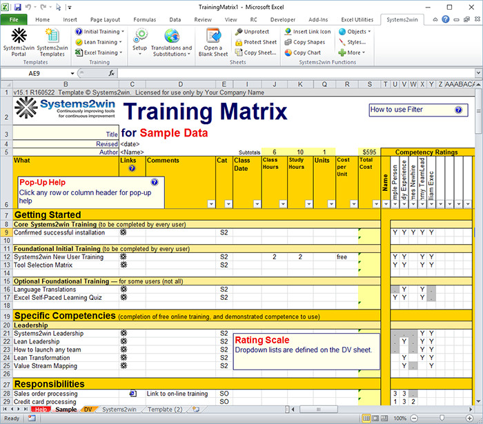 Skills Matrix Template Excel 23 Of Training Matrix Example Template