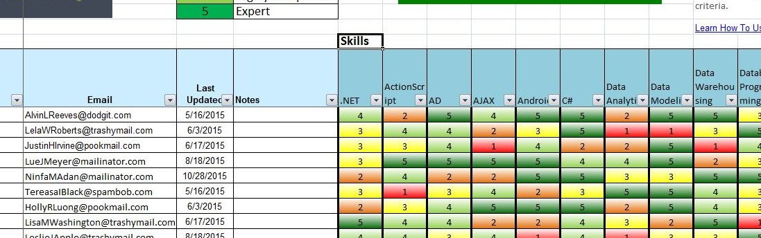 Skills Matrix Template Excel Skills Db Pro Free Skills Matrix Spreads