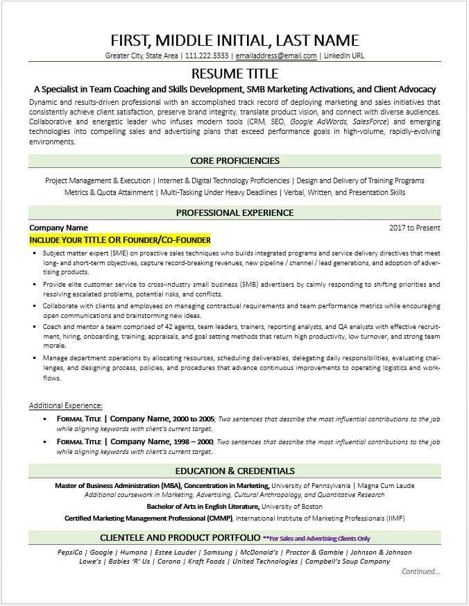 Small Business Owner Resume former Business Owner Resume Example and Tips Updated 2019