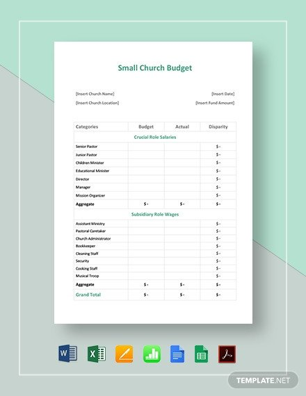 Small Church Budget Template 47 Free Word Bud Templates