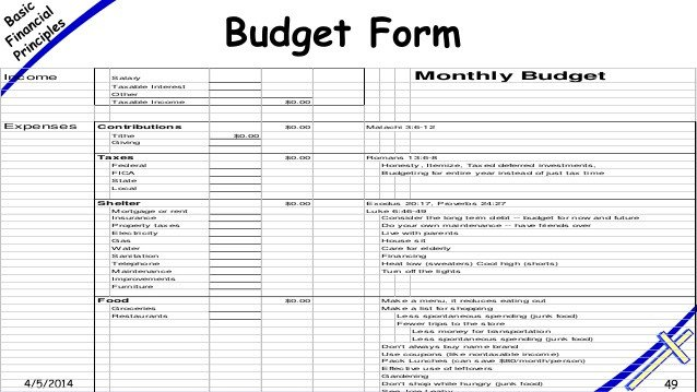 Small Church Budget Template Free Printable Monthly Bud Worksheets