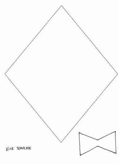 Small Kite Template 17 Best Ideas About Kite Template On Pinterest