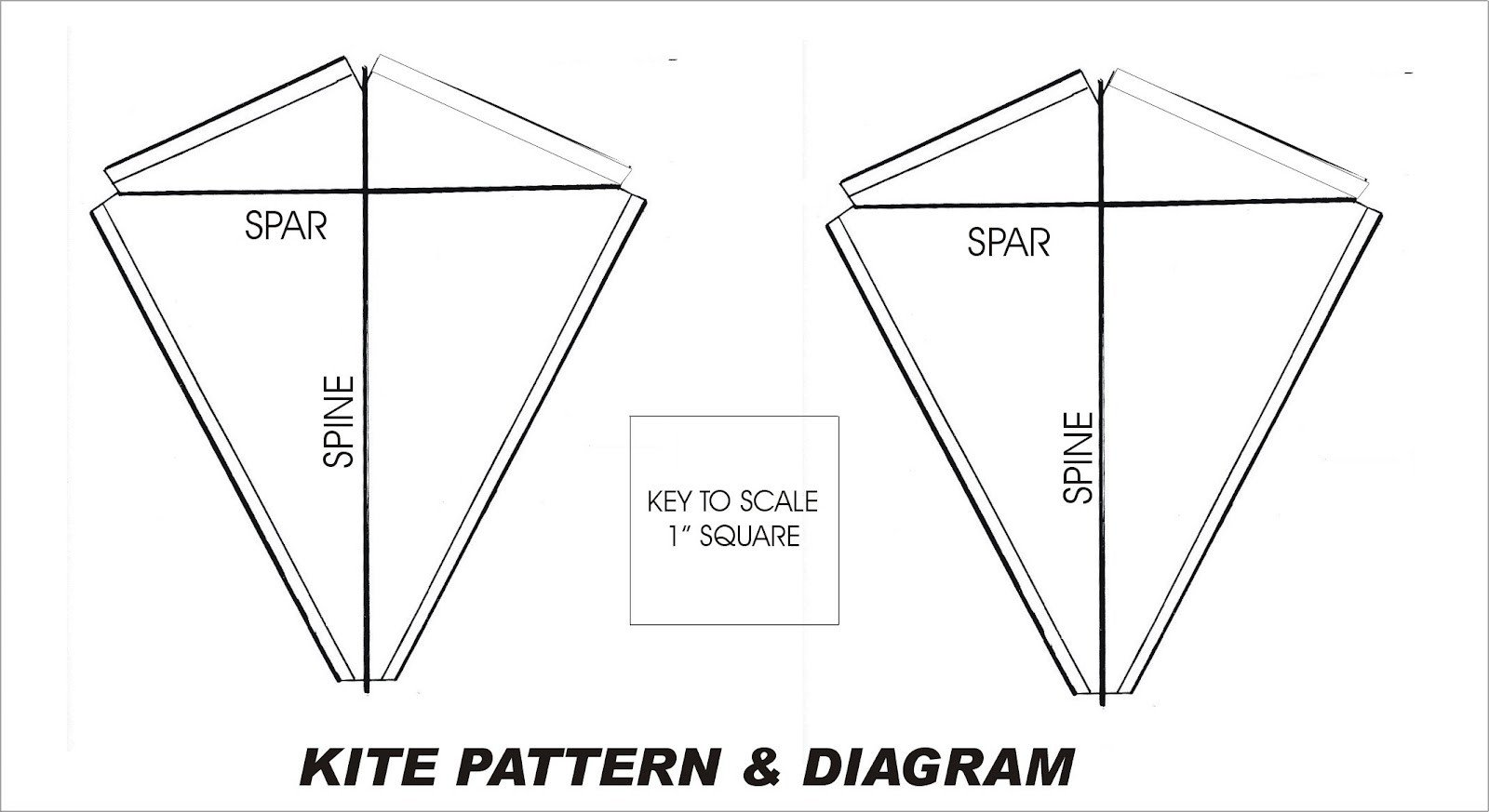 Small Kite Template Basic Kite Plans Frompo 1