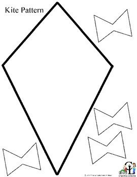 Small Kite Template Free Kite Pattern by C and L Curriculum