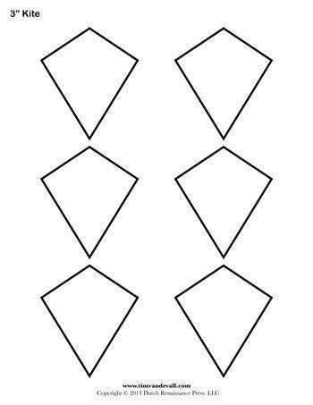 Small Kite Template Kite Templates 3 Inch Tim S Printables