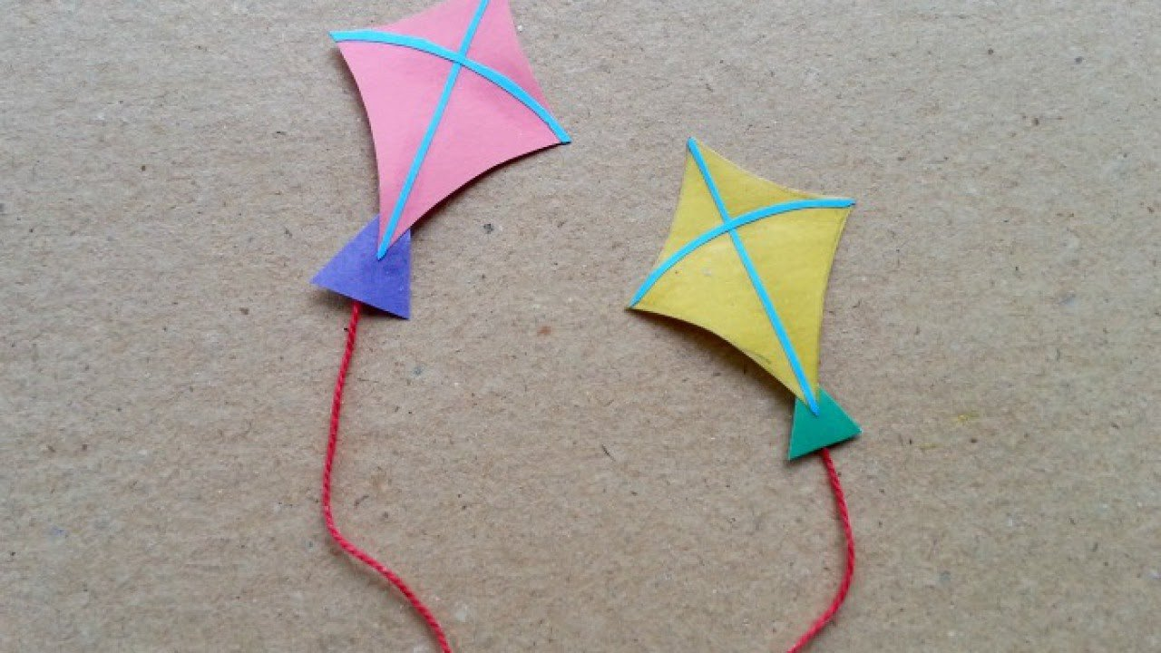 Small Kite Template Make Fun Miniature Paper Kites Diy Guidecentral