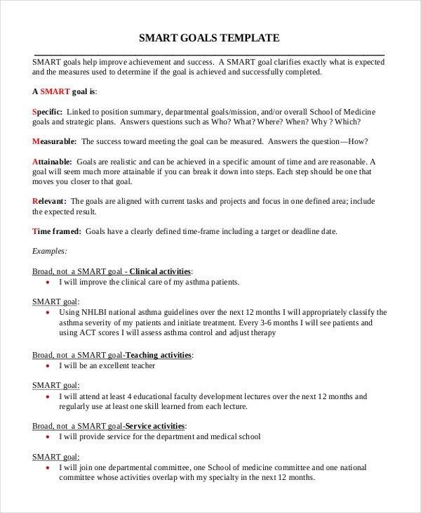 Smart Nursing Goals Examples 11 Smart Goals Examples