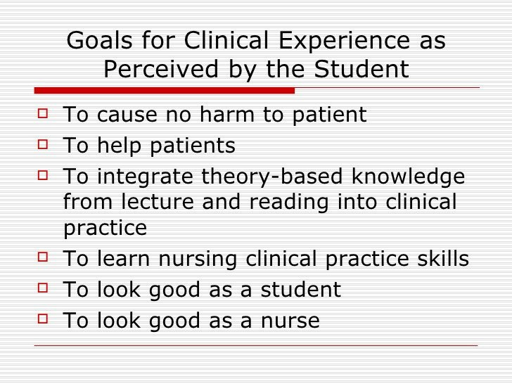 Smart Nursing Goals Examples Goals Of Clinical Nursing Education