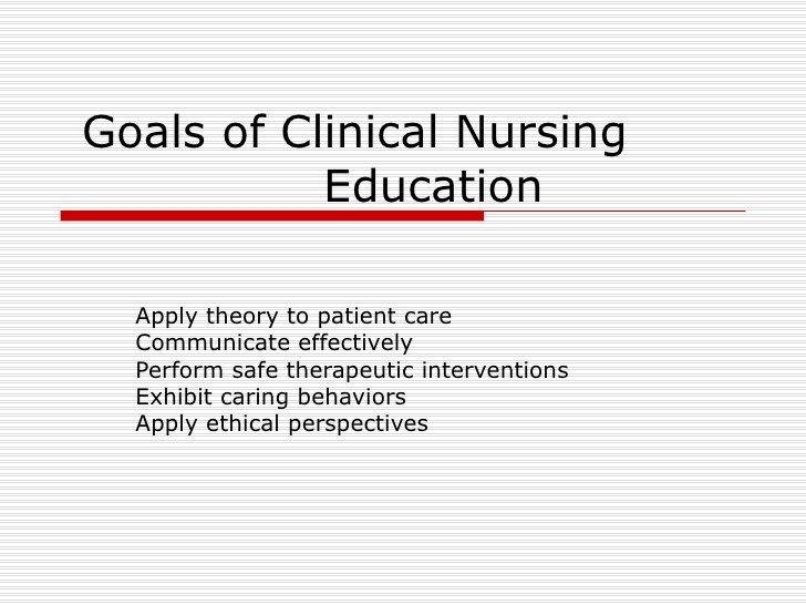 Smart Nursing Goals Examples Goals Of Clinical Nursing Education