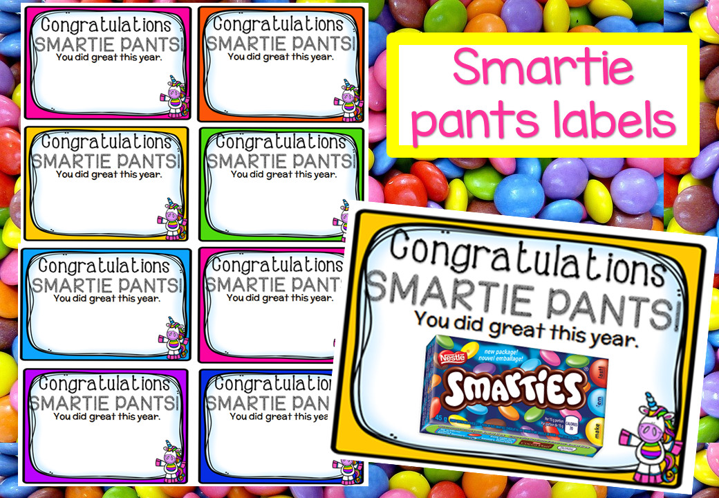 Smartie Pants Printable Template End Of Year Smartie Pants Tags – Mash