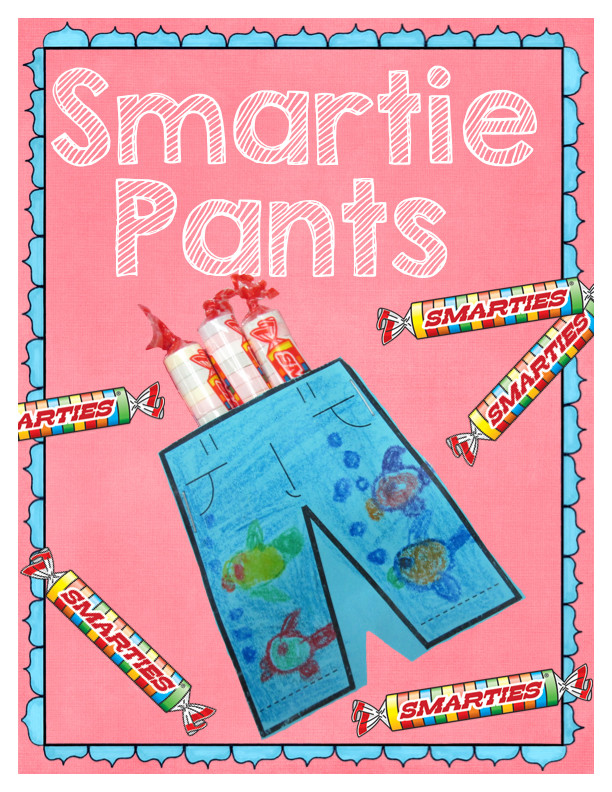 Smartie Pants Printable Template Kearson S Classroom Fcat Buddy Testing Day 4