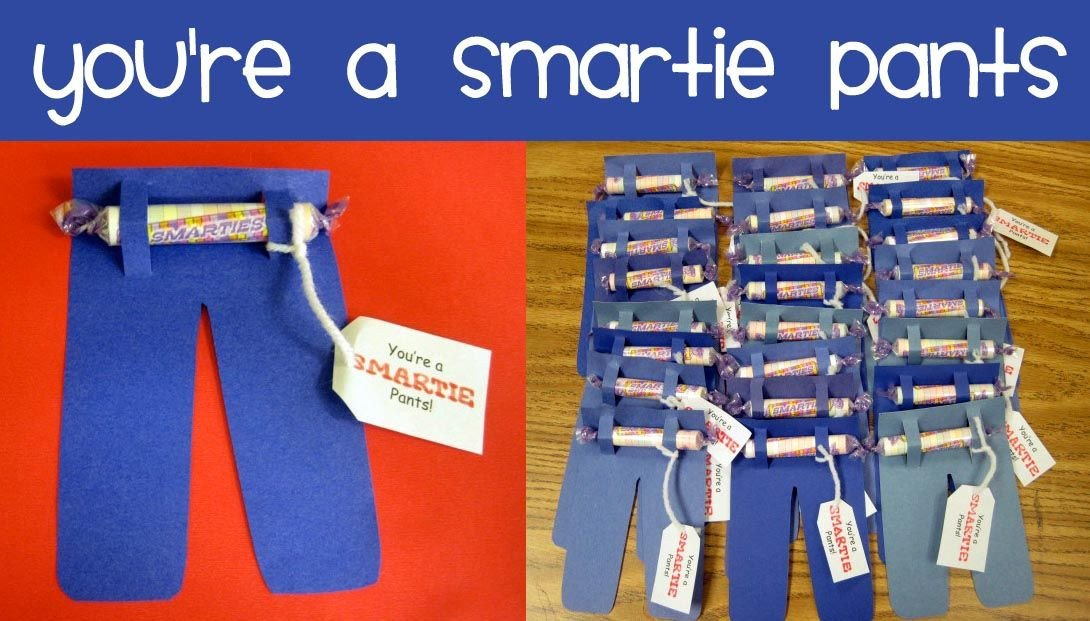 "Smartie Pants Template ""sweet"" Relief From Standardized Testing 5 Great Ideas"