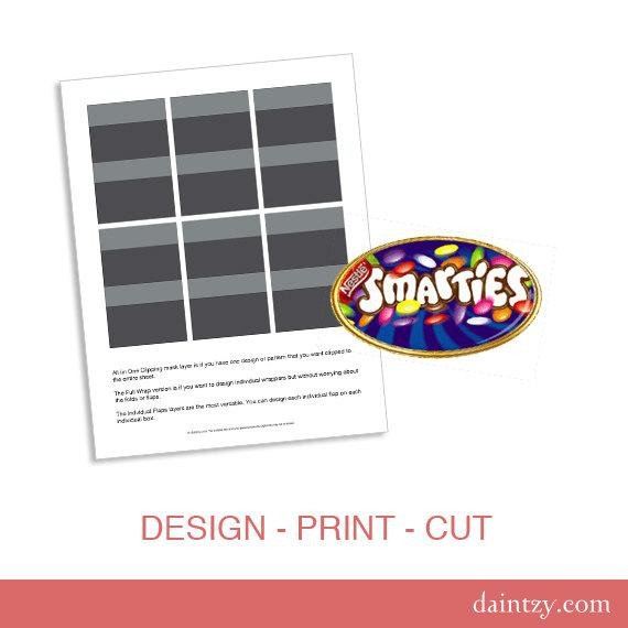 Smarties Diploma Wrapper Template Instant Download Smarties Mini Chocolate Favor Wrapper