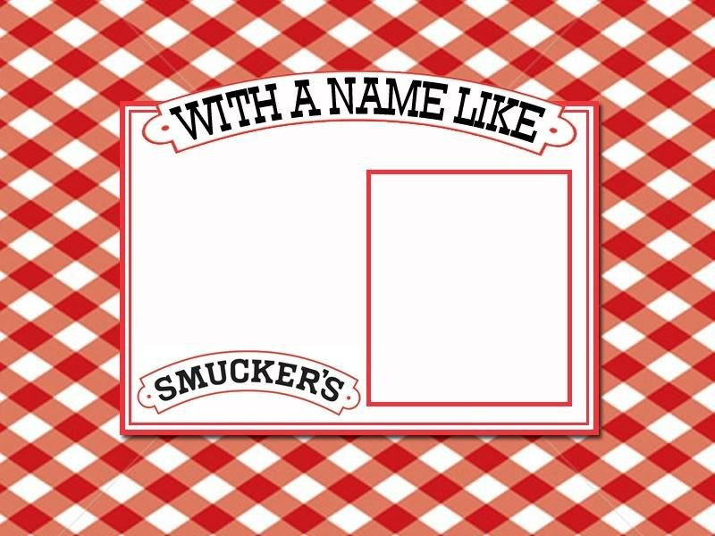 Smuckers Birthday Label Template A Blank Template for Making A Birthday Card or Label with