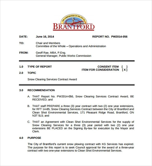 Snow Plow Contract Template Snow Plowing Contract Template 6 Download Documents In