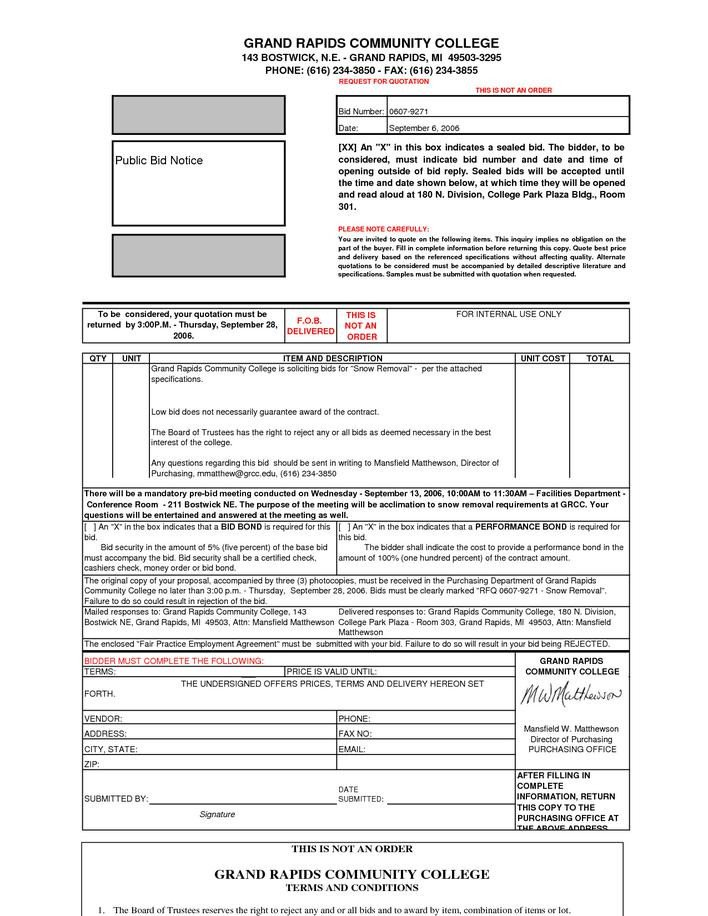 Snow Removal Quote Template Download Basic Snow Removal Contract Template for Free