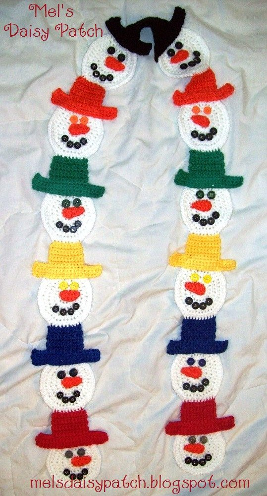 Snowman Scarf Template Mel S Daisy Patch Crochet and Crafts Snowman Scarf