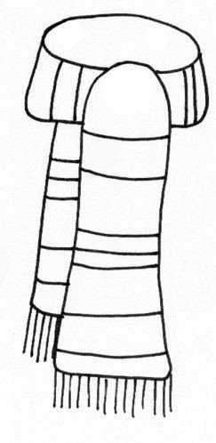 Snowman Scarf Template Scarf Coloring Page Template