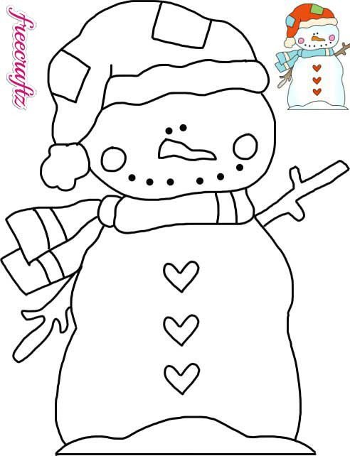 Snowman Scarf Template Snowman Template – Wearing A Stocking Cap and Scarf