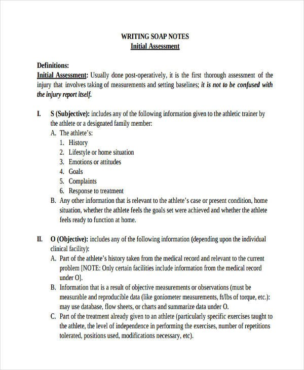 Soap Note Template Pdf 19 soap Note Examples Pdf
