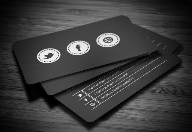 Social Media Business Card 30 Free Business Card Templates for Every Profession